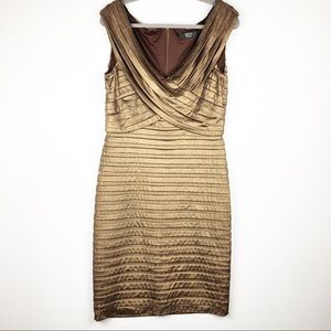 Tadashi Collection Tiered Metallic Sheath Dress